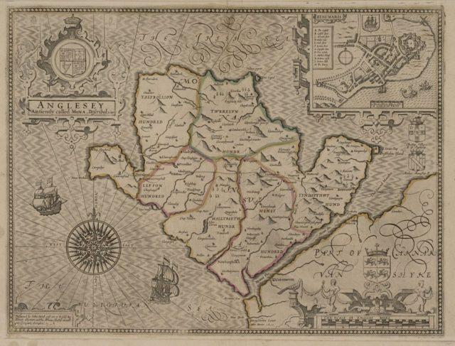 Yn y map dangosir afon Alaw, Talybolion ac Aberffraw.
