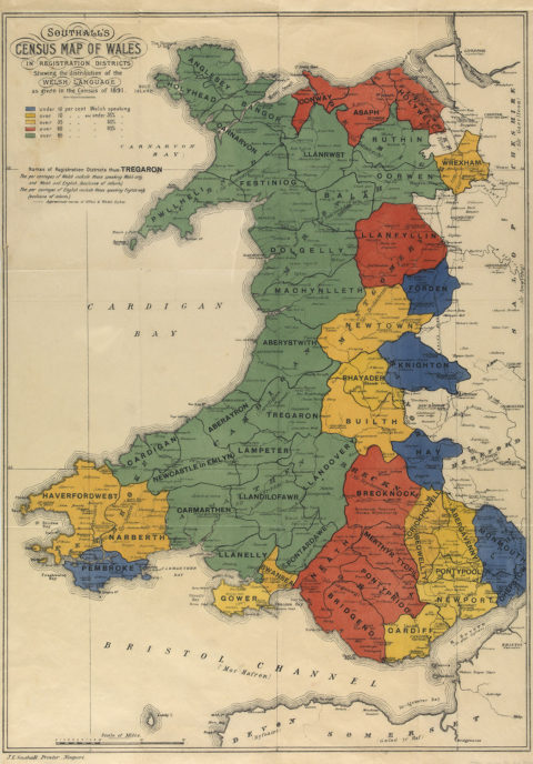 Southall's Census Map of Wales, 1895.