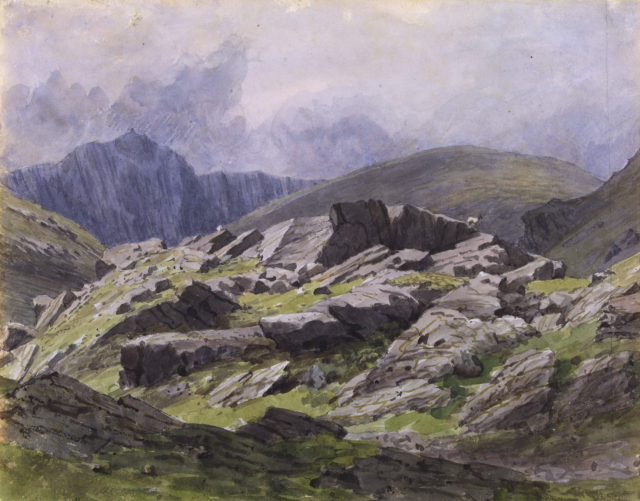 Aran Fawddy from the entrance to Llaethnant August 6, 1846