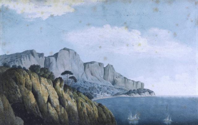'In the island of Capri near Naples'